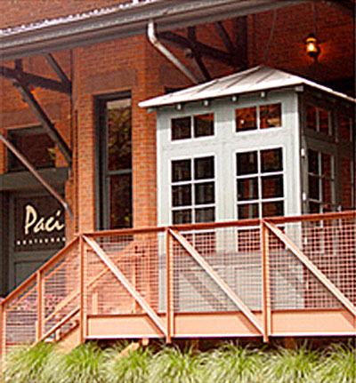 Zinc Standing Seam Roof – Paci Restaurant Entrance, Southport, CT
